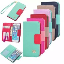 wholesale original leather wallet case for iphone 5 6 6s plus 5s flip cover for samsung galaxy s4 s5 s6 edge plus note 5 4 3