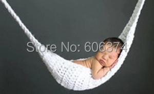 Новинка младенца вязания крючком гамак фотографии реквизит для малышей вязание костюм новорожденных фото реквизит 1 комплект
