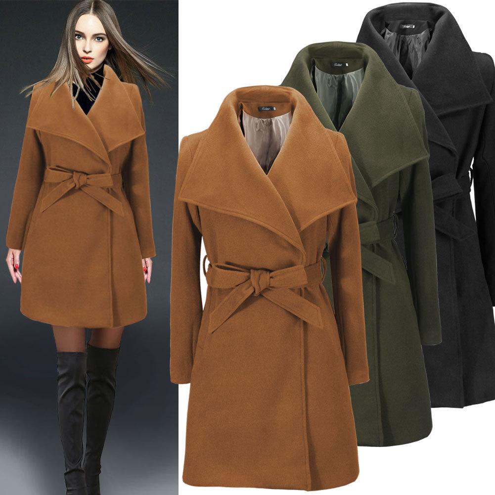 2015 de invierno negro militar abrigo largo de lana elegante Retro mujer abrigo para mujer chaquetas