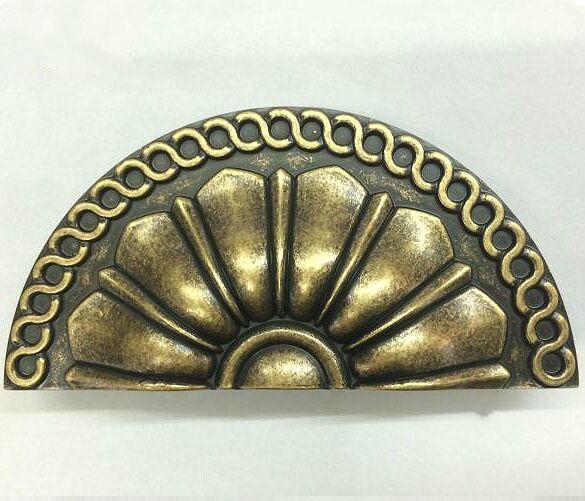 Drawer knob pull bronze kichen cabinet handles pull antique distress antique brass half round antique furnituredecorate handles <br><br>Aliexpress
