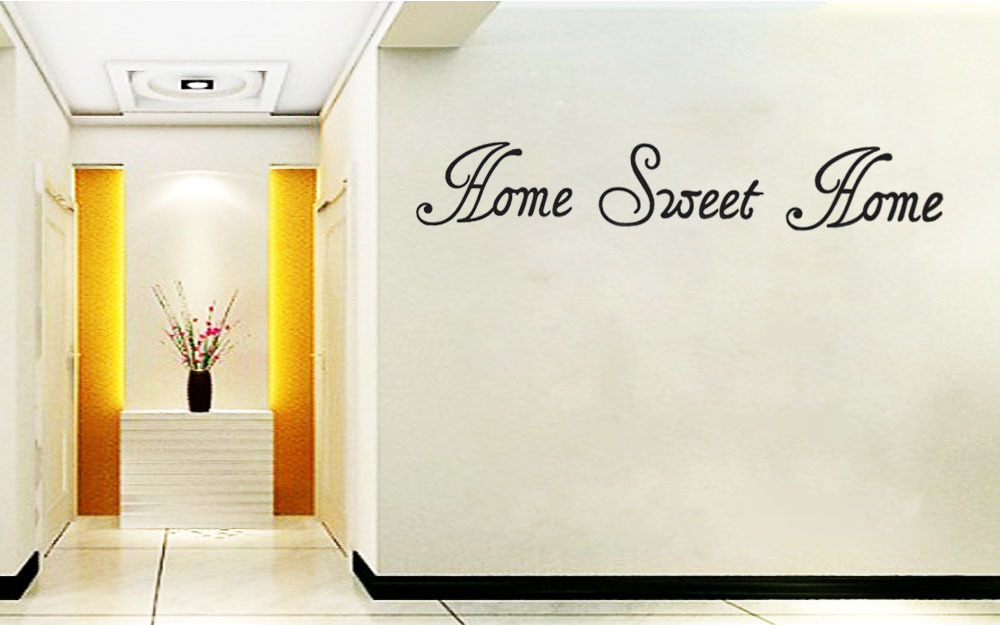 Lettering Decorative Home Sweet Home Wall Sticker Decal Decor Quote Lettering Art Home
