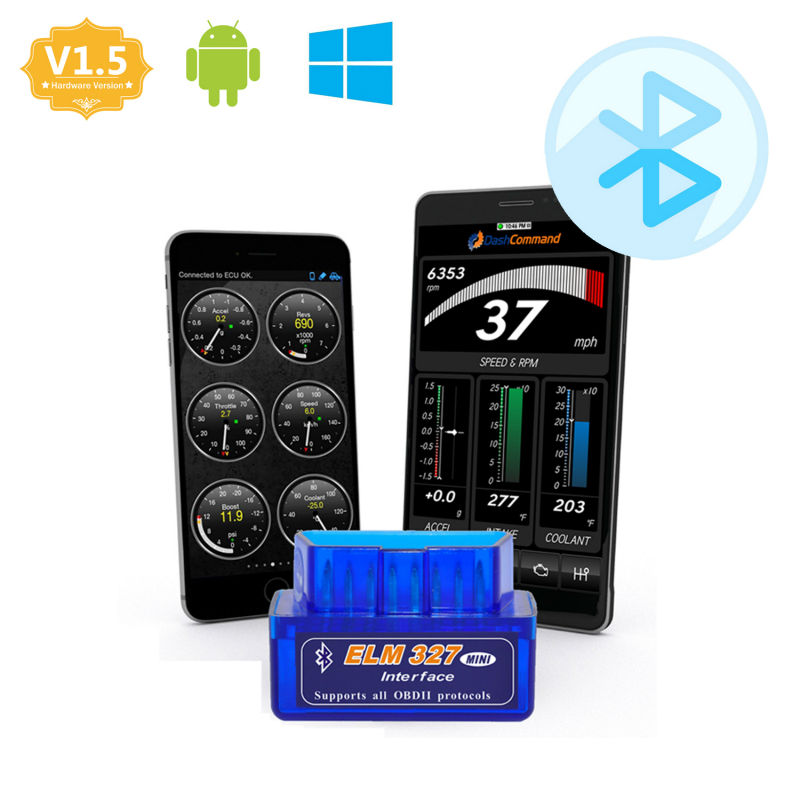 super mini elm327 bluetooth obd2 adapter auto scanner. Black Bedroom Furniture Sets. Home Design Ideas