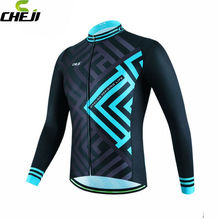 Buy CHEJI Team Blue Pro Road Bike Mens Ropa Ciclismo Cycling Long Sleeve Jerseys Tops T-Shirt Bicycle Clothing for $19.10 in AliExpress store