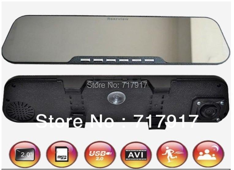 "Здесь можно купить  720P 2.7"" HD TFT screen with 120 degree ultra wide angle rearview mirror car dvr D2  Автомобили и Мотоциклы"