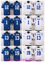 Wholesale 2016 Indianapolis Colts Andrew Luck Pat McAfee T.Y. Hilton Johnny Unitas Andre Johnson Frank Gore Men, Stitched Logo(China (Mainland))