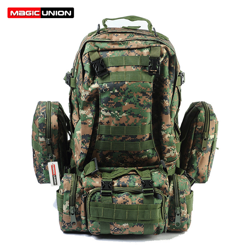 A Family Of Four Men Women Unisex Outdoor Military Tactical Backpack Camping Hiking Bag Trekking Sport Rucksacks 70L Backpacks(China (Mainland))