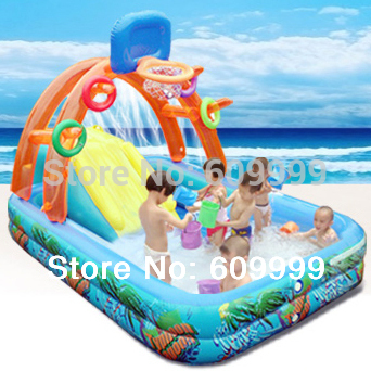 Multifunctional Castle-Shape Inflatable Paddling Pool/Swimming Pool for Kids made of NONtoxic High density Tough PVC/Play Pool(China (Mainland))