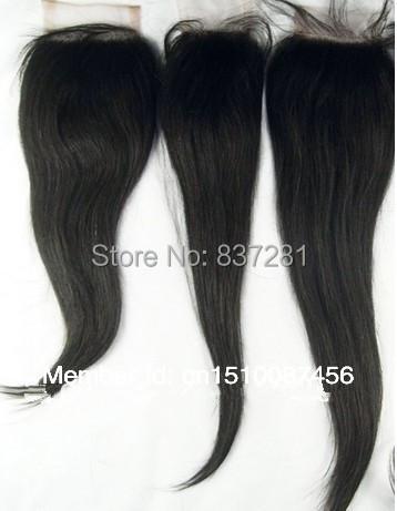 100% virgin brazilian human cheapest hair 4X4 lace front closure bleached knots  -  Flower factory store