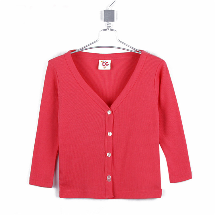 2015 spring and autumn child clothing boys girls clothing casual outerwear candy color cardigan sun protection clothing A0632(China (Mainland))