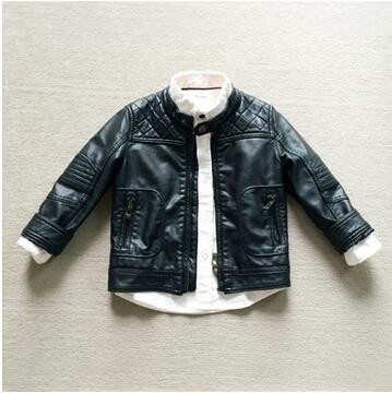 Здесь продается  3-1487/99 Retail Brand Za Winter Boy Jacket Leather Fleece Worm Boy Leather Coat Zipper Black Boys Coats Outerwear   Детские товары