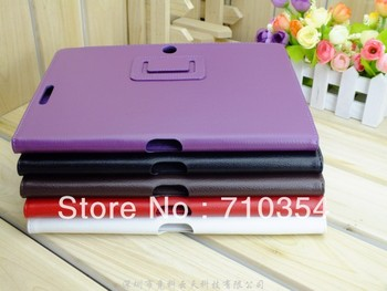 """Free Shipping Stand Leather case book cover protective shell skin for Asus Eee Pad Transformer Pad TF300 TF300T, 10"""" table case"""