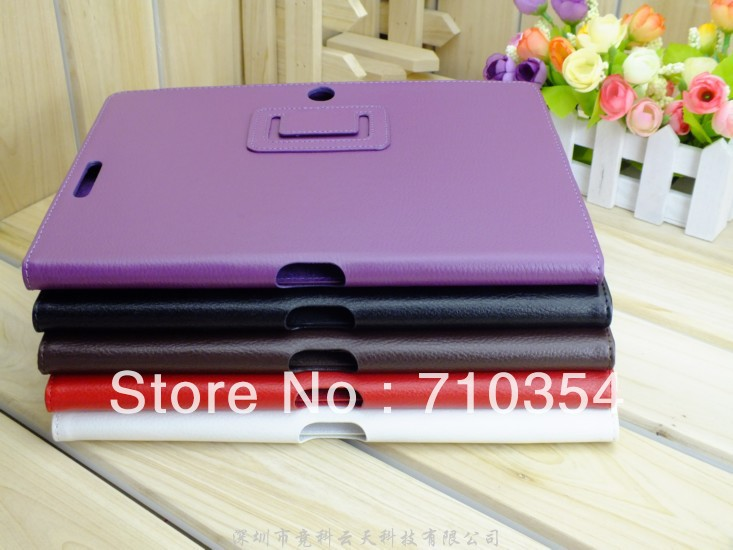 "Free Shipping Stand Leather case book cover protective shell skin for Asus Eee Pad Transformer Pad TF300 TF300T, 10"" table case(China (Mainland))"