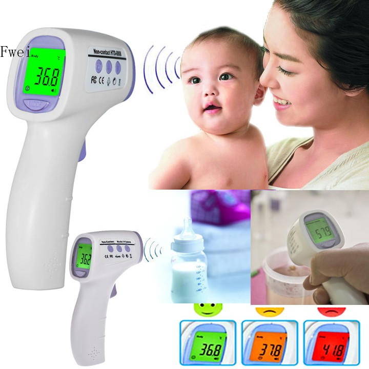 Fashion Digital termometer thermometer ear new baby/adult digital multi-function non-contact infrared forehead body thermometer(China (Mainland))