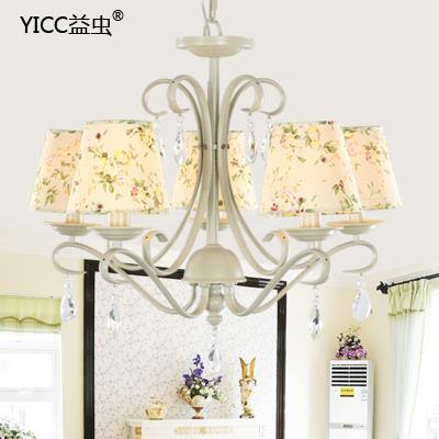 Free shipping 3 LED ceiling chandelier flowers and crystal chandeliers modern minimalist living room(China (Mainland))