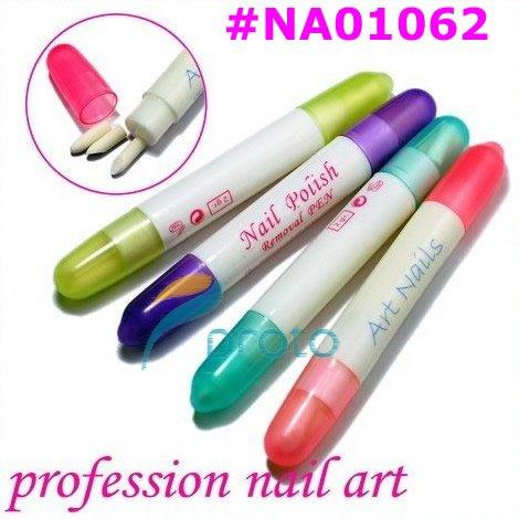 Nail Art Beauty Polish Corrector Pen Remove Remover Cleaner Mistakes Varnish Nail Polish Removal Pen Color Random SKU:C0032XX(China (Mainland))