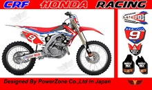 CRF 250 450 2014 MUSCELE MILK Team Graphics Backgrounds Decals Stickers Motor cross Motorcycle Dirt Bike MX Racing Parts - PowerZone Co.,Ltd store