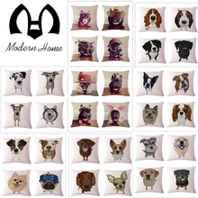 36 pictures Linen dogs Pillow Cover