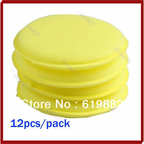 Drop Shipping 12pcs/pack Waxing Polish Wax Foam Sponge Applicator Pads For Clean Car Vehicle Glass<br><br>Aliexpress