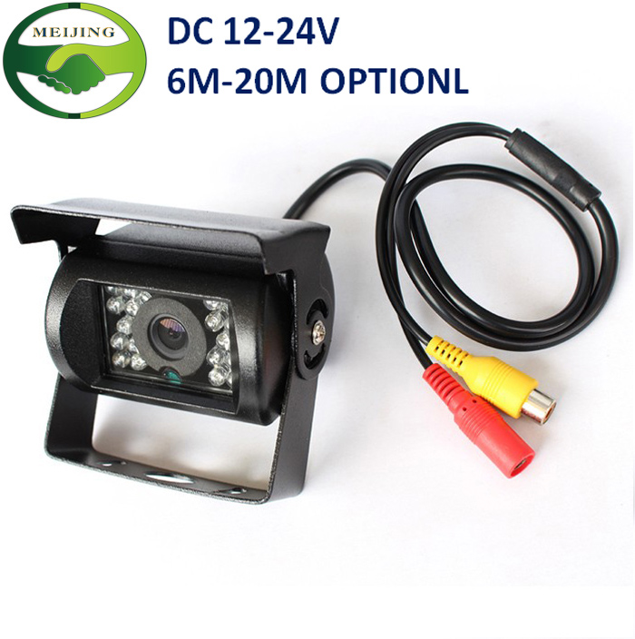 DC 12~24V Car Parking Camera, IR Nightvision Waterproof Rear View Camera With 10M 15M 20M RCA Video Cable For Bus Truck(China (Mainland))