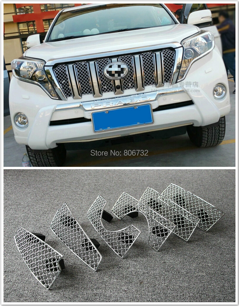 For Toyota Prado FJ150 2014 2015 Front Grille Grill Bezel Honeycomb Mesh Cover(China (Mainland))