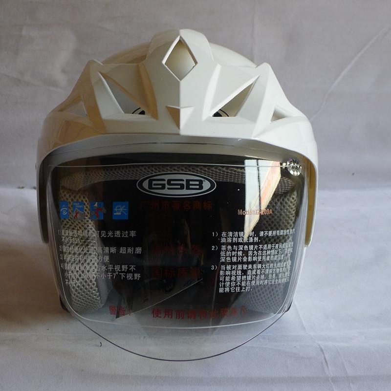 Free shipping Gsb helmet motorcycle electric bicycle helmet male women's g-209a belt hat brim white