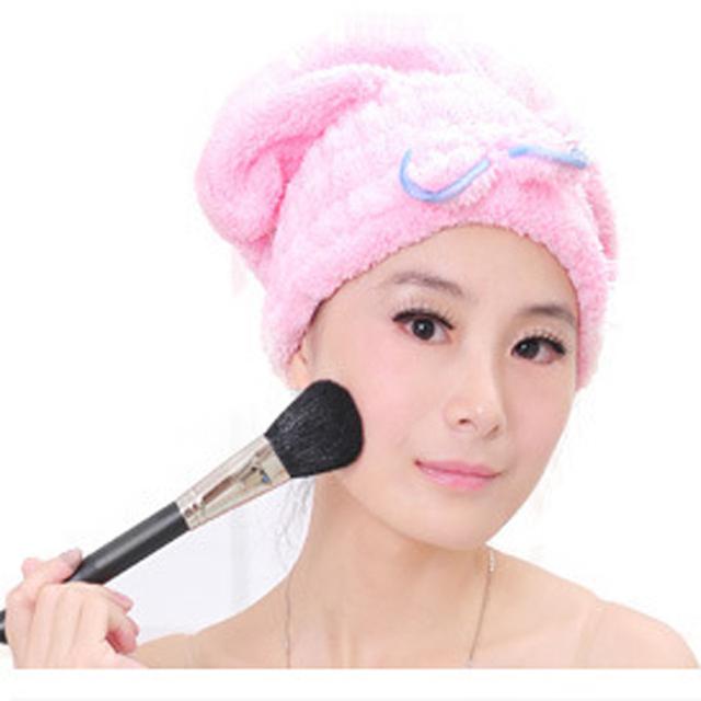 Текстильной микрофибры твердого волосы тюрбан быстро сухих волос шляпу полотенце банные принадлежности гигиенические душ