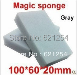 Free Shipping 100 pcs/lot Gray Magic Sponge Eraser Melamine Cleaner,multi-functional Cleaning 100x60x20mm Wholesale & Retial
