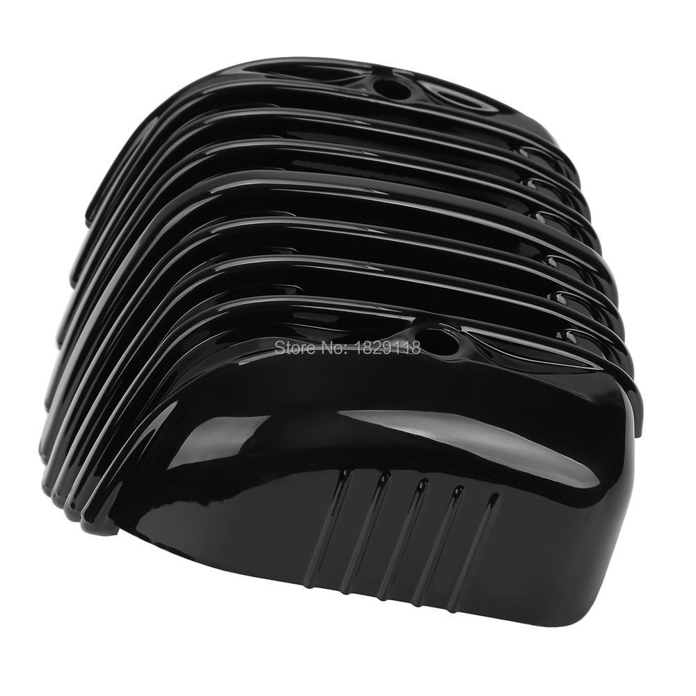 Black Voltage Regulator Cover For Harley Heritage Softail Classic FLSTC 2001-16