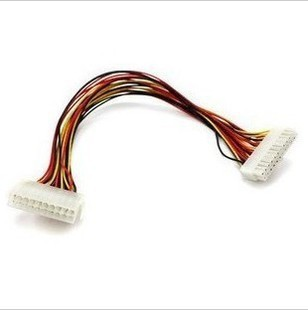 F04206-5 5 pcs 24 Pin 30CM Long ATX Power Supply Female to Male Extension Adapter Cable wire For Laptop PC + FS