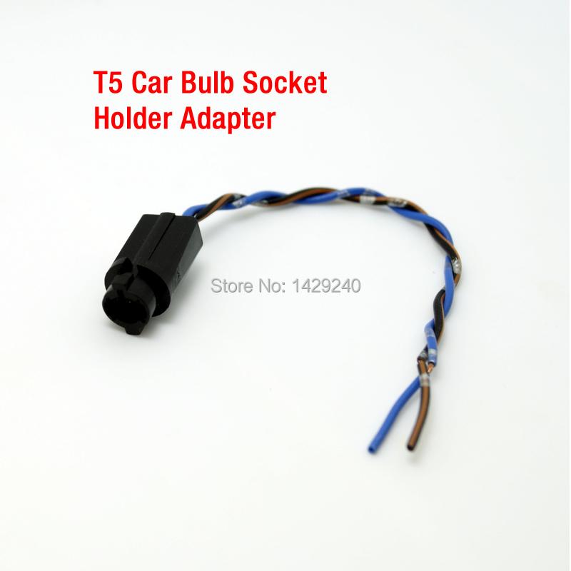 10pcs T5 Car LED Bulb Socket Holder Adapter Harness Plugs #CA3816CZ(China (Mainland))