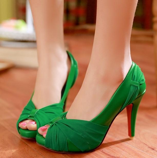 ENMAYER NEW Fashion women high heels wedding shoes red bottom bridal shoes nightclub platform fish head high heel shoes 8 colors<br><br>Aliexpress