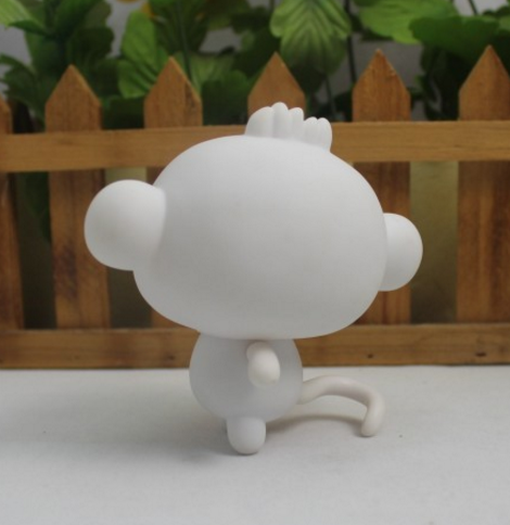 Munny World Blank Kidrobot DIY PVC Vinyl Toys Lovely Monkey For School Kids DIY Watercolor Drawing LPS Toys(China (Mainland))