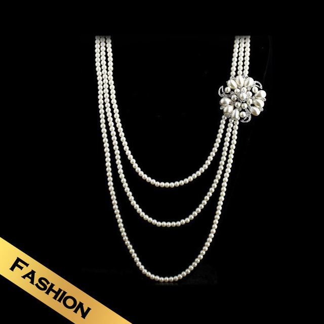 Special Chain Necklaces Ceramic Beads Fashion Classic Multi-layer Design Free Shipping Flowers Jewelry XL12A1015