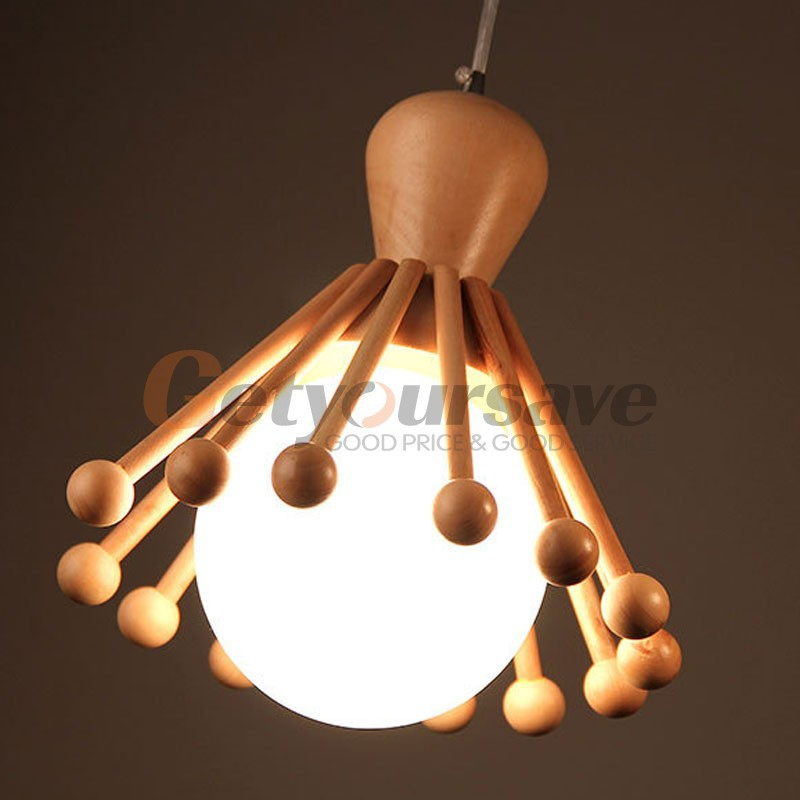 Modern Wood Hanging Pendant Lights