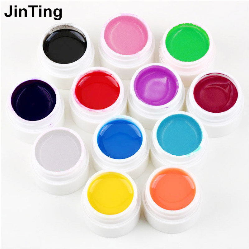 New arrive Nail Gel Polish Pure Colour Builder Solid gel Set For nail art UV lamp(China (Mainland))