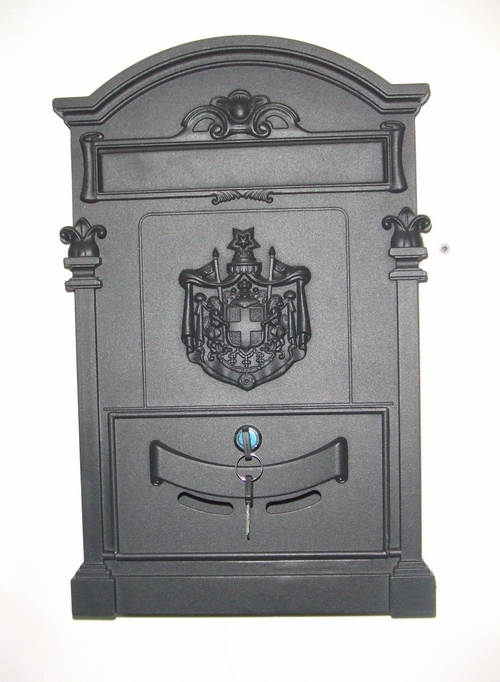 Limited Time Special large European newspaper boxes aluminum cast metal mailbox villa(China (Mainland))