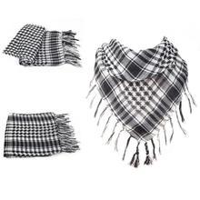 Military Windproof Winter Scarf Men Muslim Hijab Thin Shemagh Tactical Shawl Arabic Keffiyeh Scarves 100% Cotton Fashion Scarf (China (Mainland))