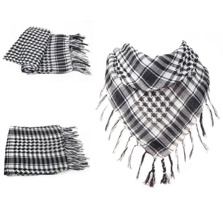 Military Windproof Winter Scarf Men Muslim Hijab Thin Shemagh Tactical Shawl Arabic Keffiyeh Scarves 100% Cotton Fashion Scarf(China (Mainland))