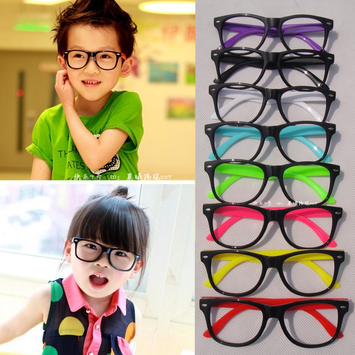 Black Frame Glasses For Babies : Free shipping KIDS Boys Girls COOL Oversize CUTE Black ...