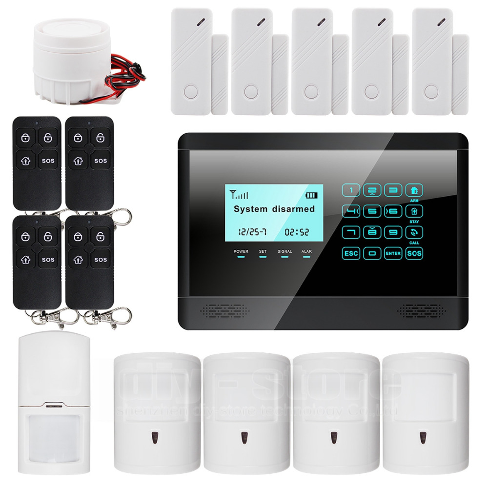 Wireless and wired GSM automatic dialing alarm system m2bx pet friendly home security(China (Mainland))