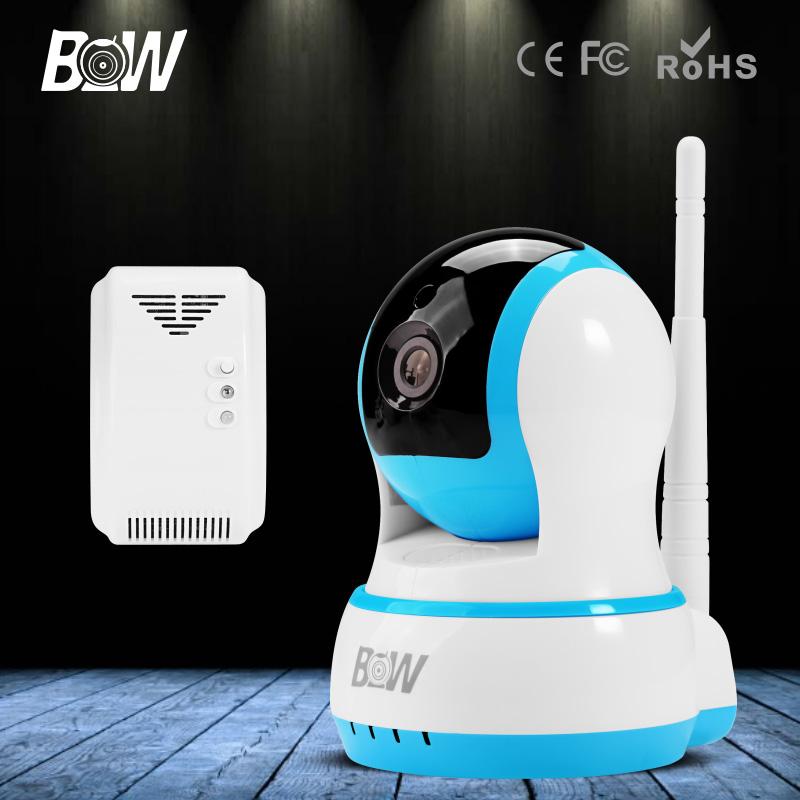 BW HD 720P IP Mini Camera P2P Baby Monitor Onvif Wireless WiFi Video Surveillance Security CCTV Accessory Automatic Gas Detector(China (Mainland))