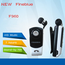 Newest FineBlue F960 Stereo Wireless Bluetooth Headset Calls Remind Vibration Wear Clip Driver Auriculares Earphone for Phone(China (Mainland))
