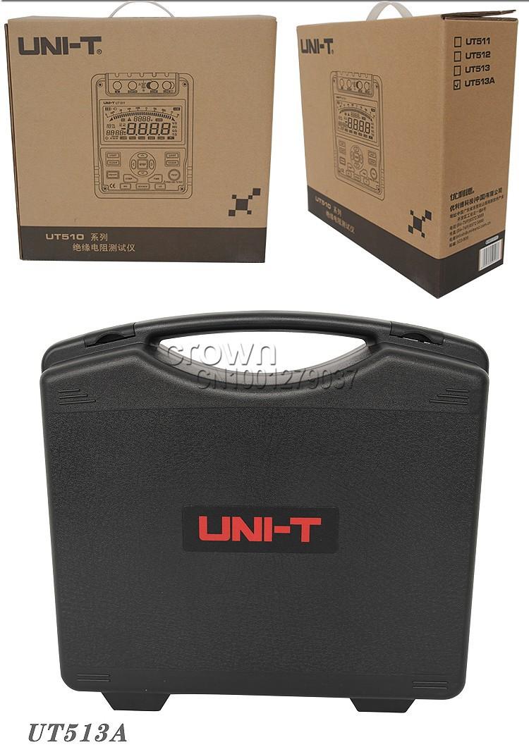 метр Тестер сопротивления изоляции UNI-t ut513a + ac адаптер