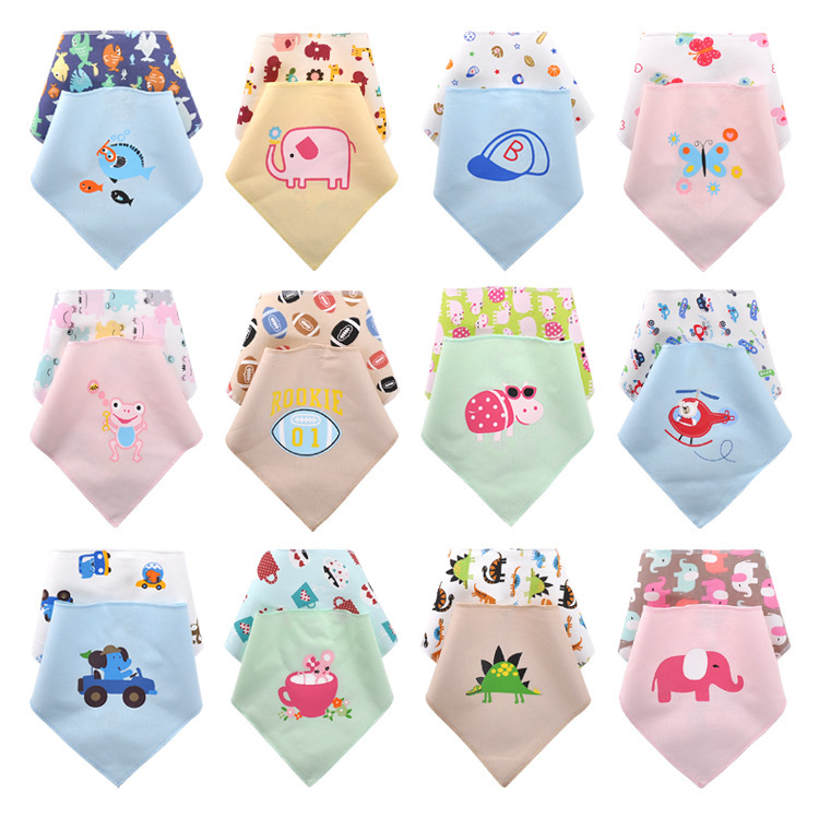 2pcs/lot waterproof baby bibs girl boy bandana bibs / Infant saliva towel  burp cloth  baby Accessories /babador/baberos bebes(China (Mainland))
