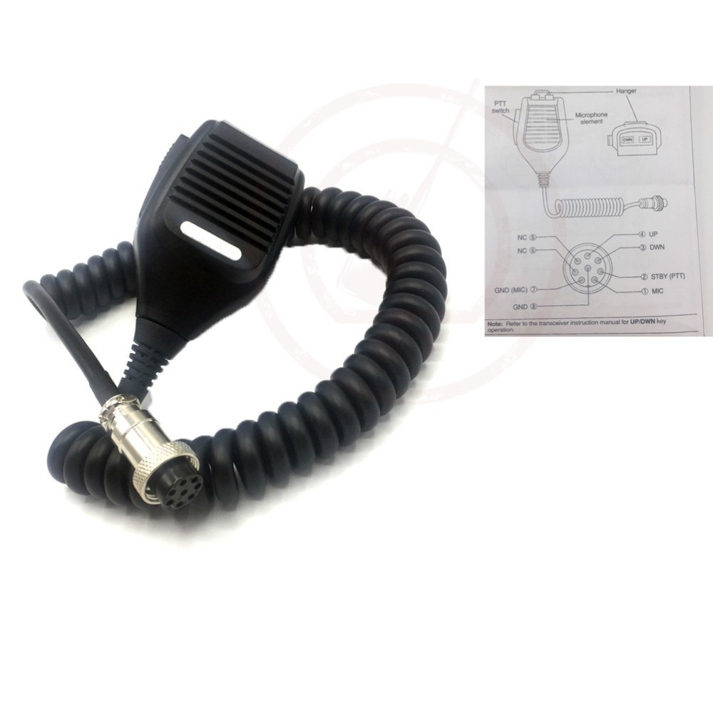 For Kenwood MC-43S 8 PIN Dynamic Hand Fist Microphone Up/Down Buttons Amateur Radio for TS-590S/TS-990S/TS-480SAT(China (Mainland))