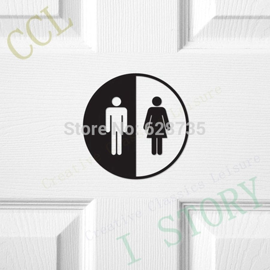 Creative Funny Toilet Entrance Sign Decal Vinyl Sticker For Shop Office Home Cafe Hotel,Toilet door sticker free shipping(China (Mainland))