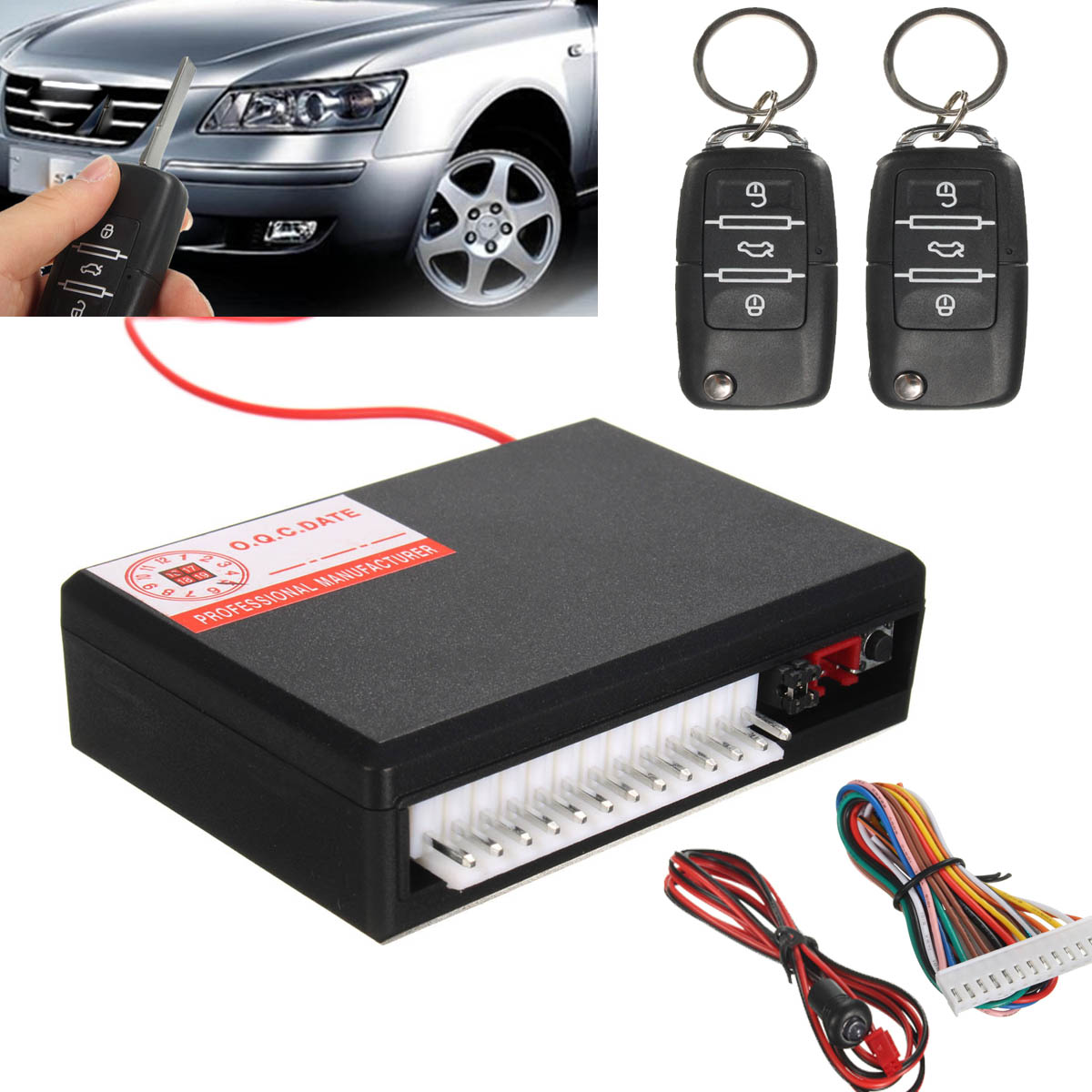2016 New Universal Car Vehicle Remote Control Central Kit Door Lock Locking Keyless Entry Theft System(China (Mainland))