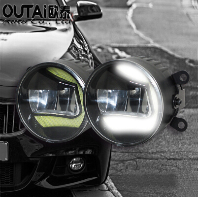 Фотография High Power Highlighted Car Fog lamps lens Fog Light LED daytime running light For Bulck Regal Lacrosse Encore ExcelIe 2pcs