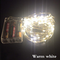 5M 50 LED 10M 100 LED battery waterproof led copper wire string lights christmas festival wedding