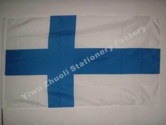 Finland Flag 150X90cm (3x5FT) 115g The Republic Of Finland(China (Mainland))